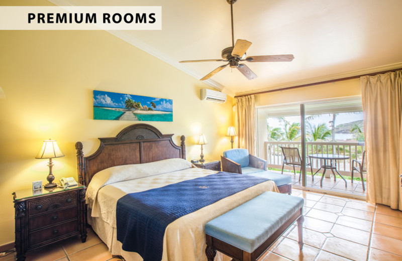Guest room at St. James's Club Antigua.