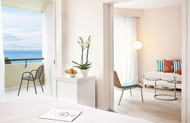 Guest room at Grecotel Pella Beach.