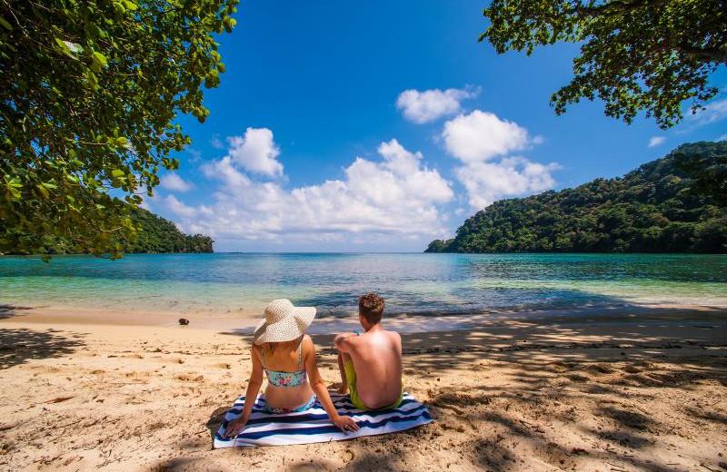The beach at Matangi Island Resort.