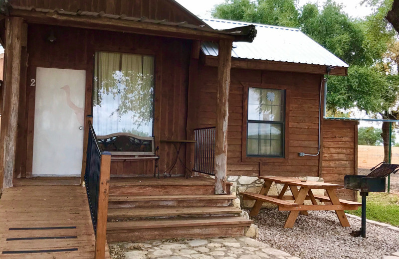 Cabin exterior at The Exotic Resort Zoo.