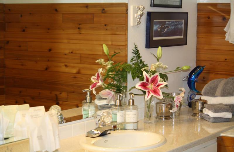 Guest bathroom at Alaska Ocean View Bed and Breakfast.