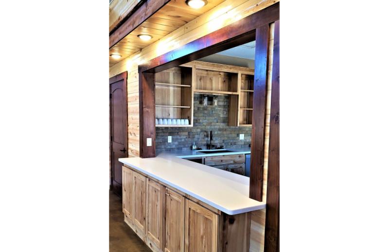 Rustic Hearth Event Center kitchen at Cedar Valley Resort.