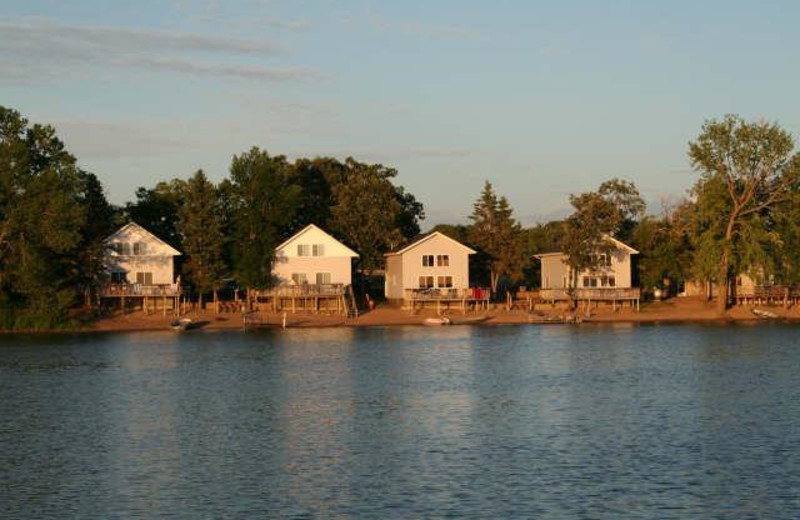 Cabins on the lake at Chase's Ethel Beach Resort.