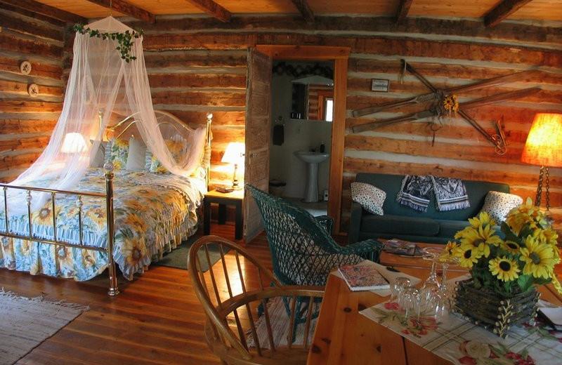 Cabin interior at Windermere Creek Bed & Breakfast Cabins.