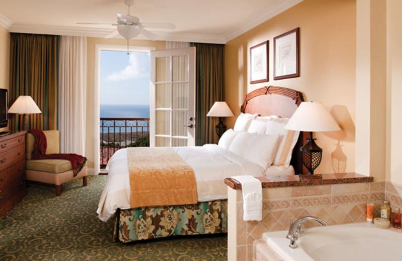 Guest room at Marriott-Newport Coast Villas.
