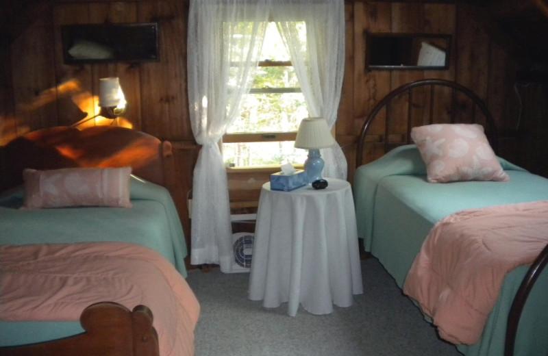 Rental bedroom at Riverview Lobster Pound Cottages.