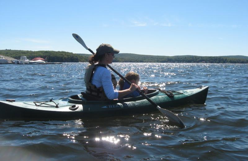 Kayaking on the Lake at The Settlers Inn