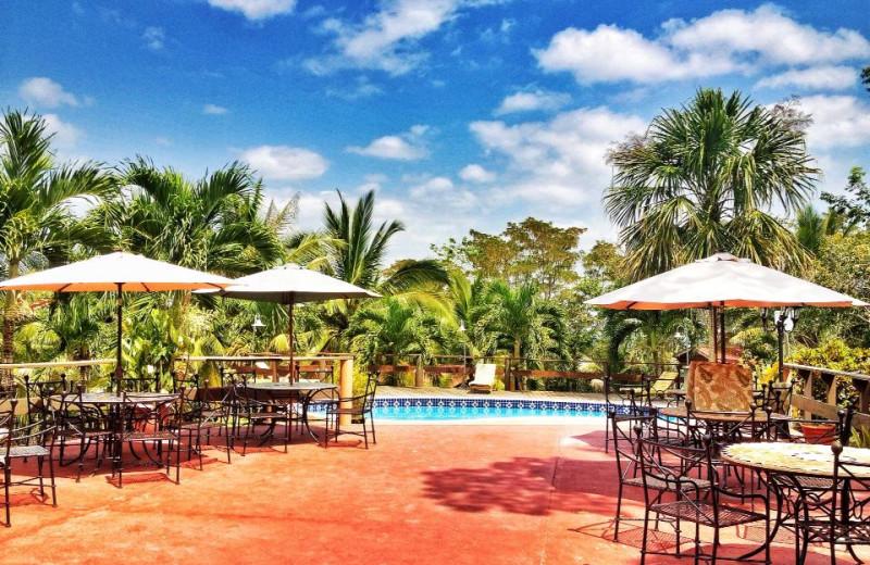 Outdoor pool at Log Cab-Inns.
