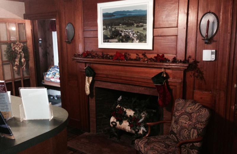 Fireplace at Windrifter Resort.