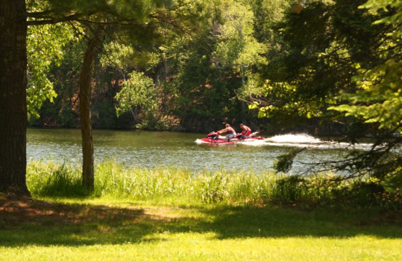 Jet skis at Wild Eagle Lodge.