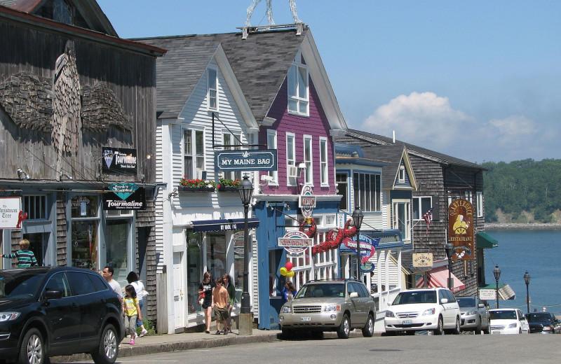 Town near Vacationland Inn.