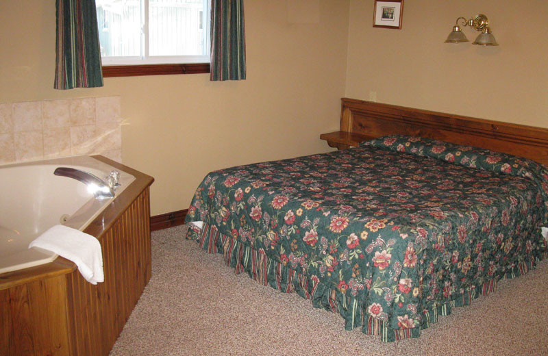 Guest bedroom at Pine Vista Resort.