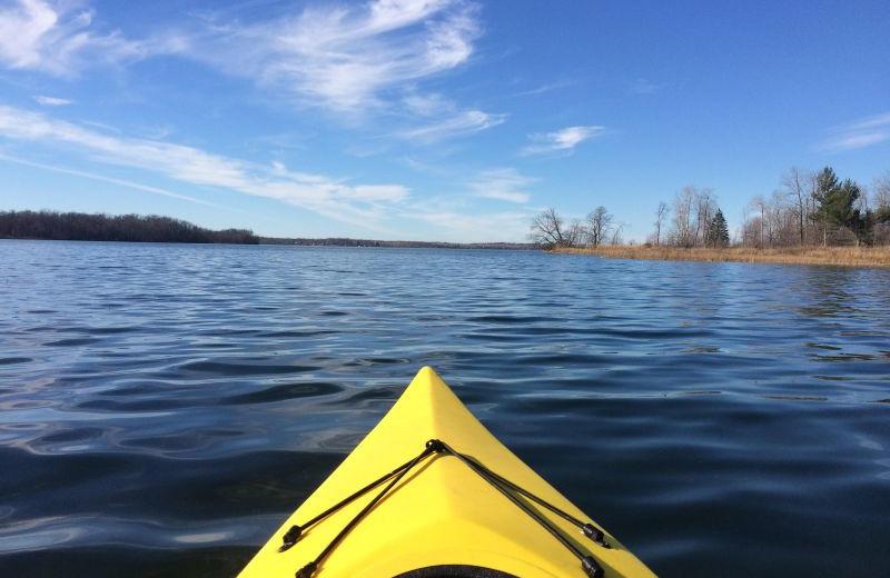 Kayaking at Grandview of Lake Kabetogama.