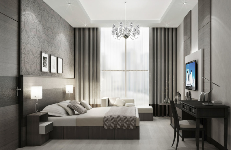 Guest room at Metropolitan Hotel Dubai.