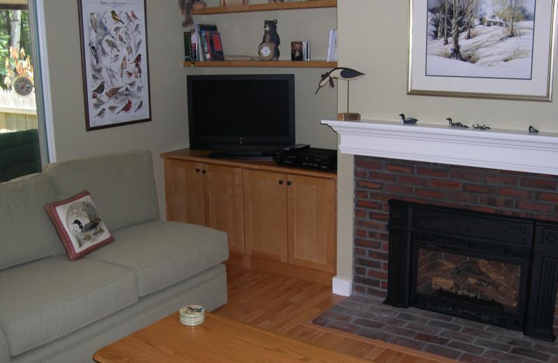 Vacation living room at Village Condominium.