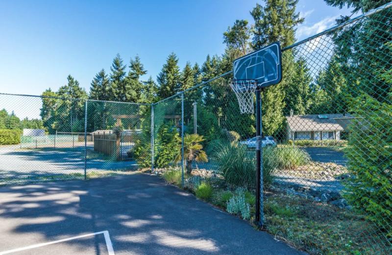 Tennis court at Ocean Trails Resort.