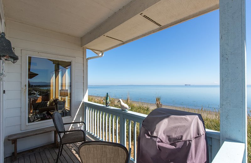 Rental balcony at Sequim Valley Properties.