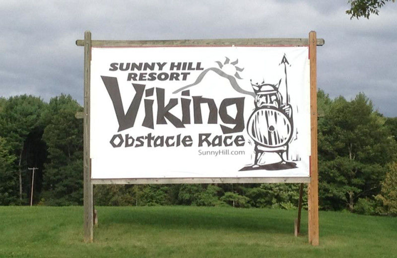 The Viking Obstacle Course at Sunny Hill Resort & Golf Course.