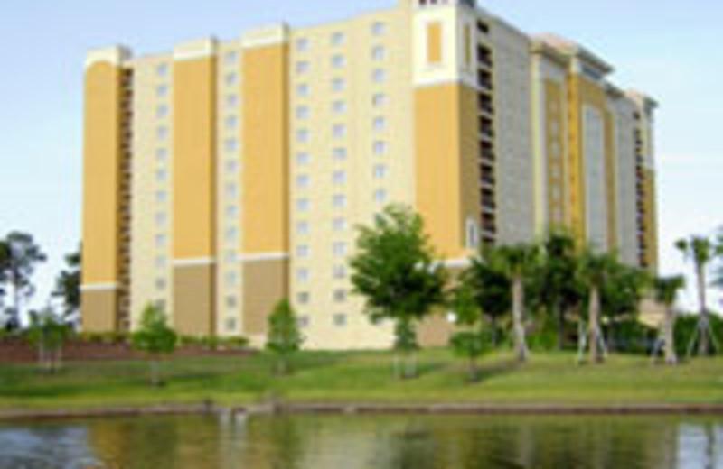 Building exterior at Lake Eve Resort.