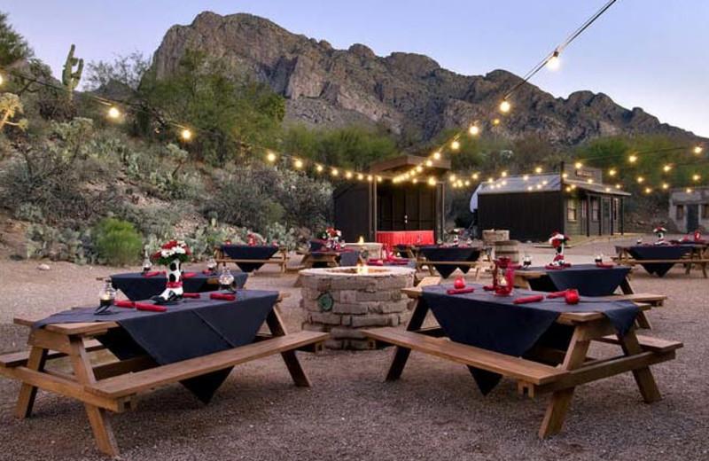 Outdoor dining at Hilton Tucson El Conquistador Golf & Tennis Resort.