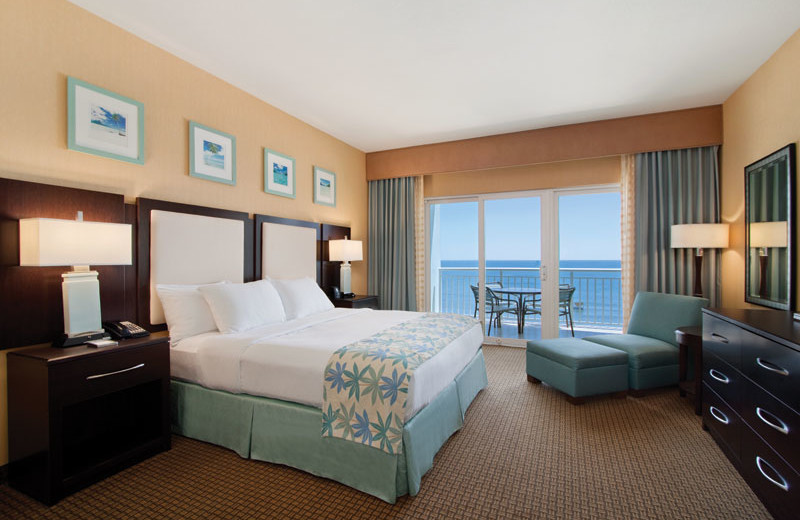 Oceanfront suite at Hilton Suites Ocean City Oceanfront.