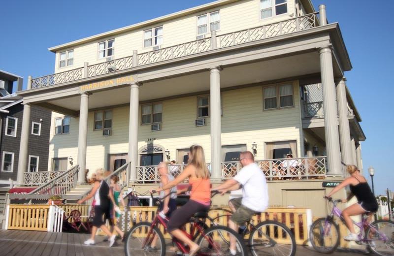 Bike rental on the boardwalk near Harrison Hall Hotel Ocean City.