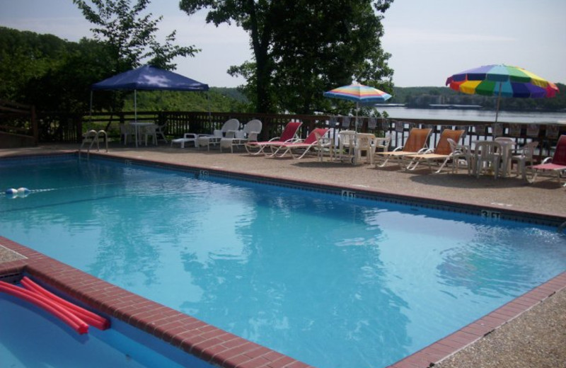 Outdoor pool at Inn at Grand Glaize.