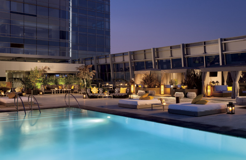 Outdoor pool at The Ritz-Carlton, Los Angeles.