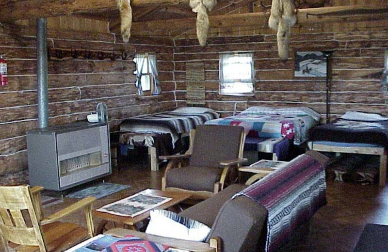 Cabin interior at Lone Butte Ranch.