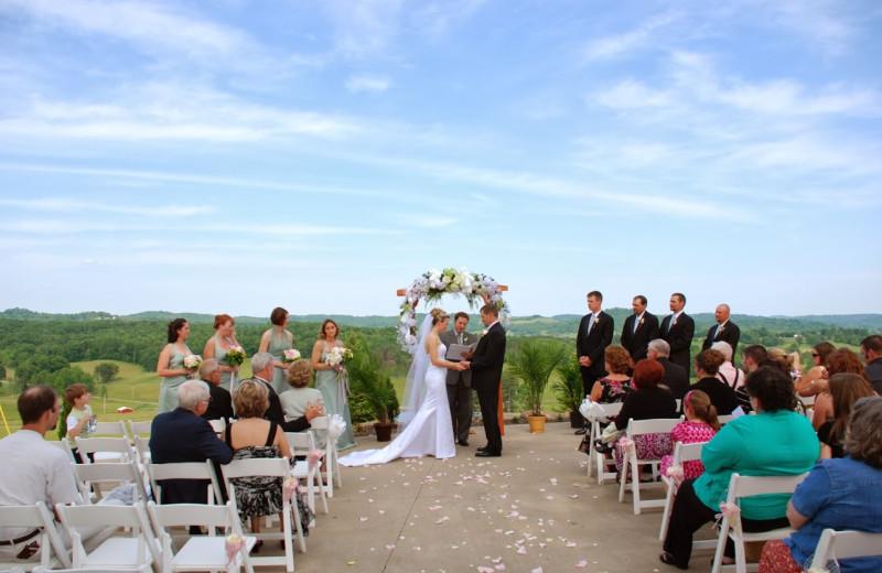 Wedding at Pine Lakes Lodge.