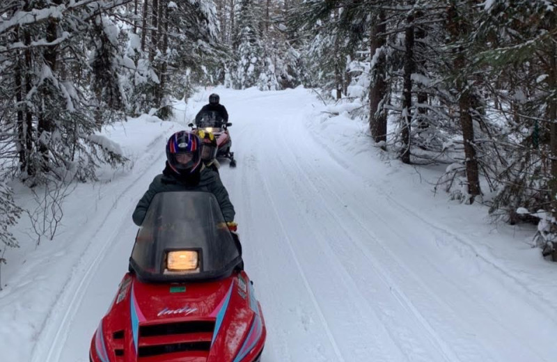 Snowmobiling at Timber Bay Lodge