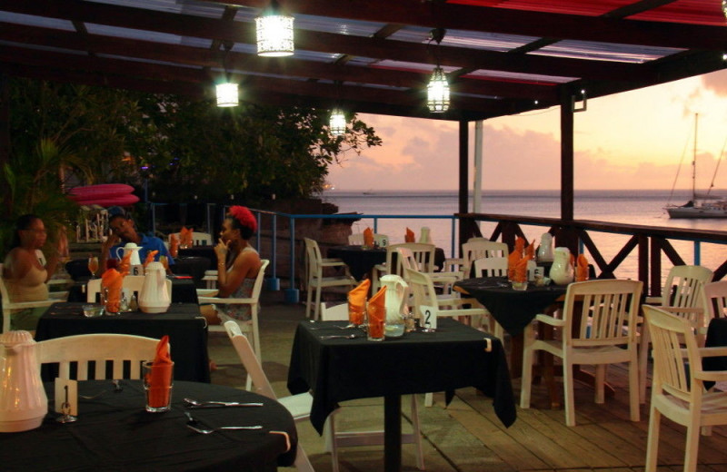 Dining at Dive Dominica and Castle Comfort Lodge.