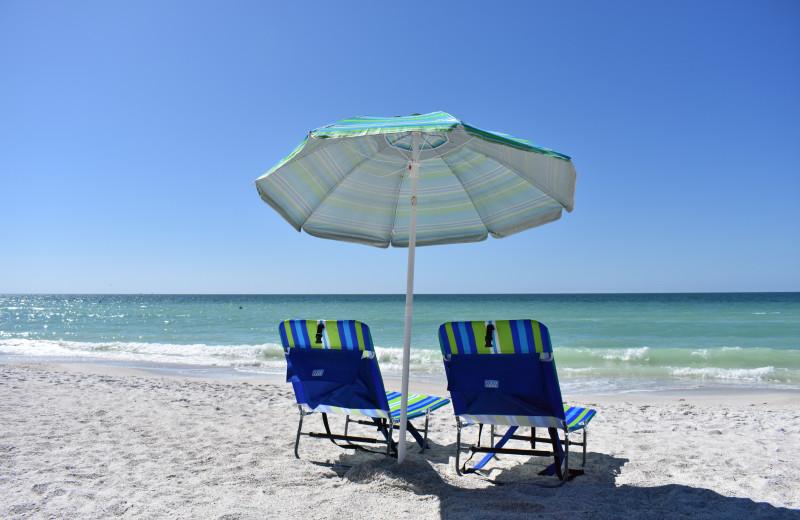 Beach at Anna Maria Vacations.