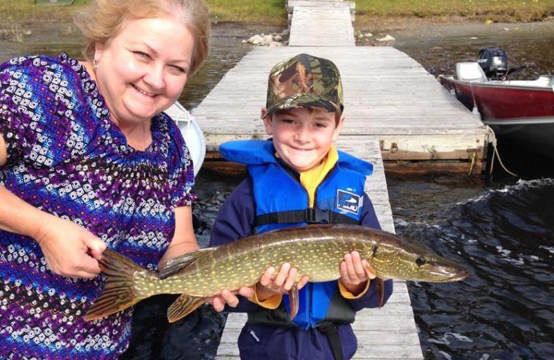 Fishing at Elk Lake Wilderness Resort.