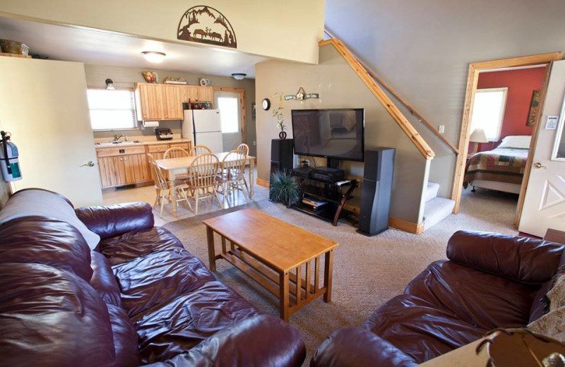 Cabin interior at High Country Guest Ranch.