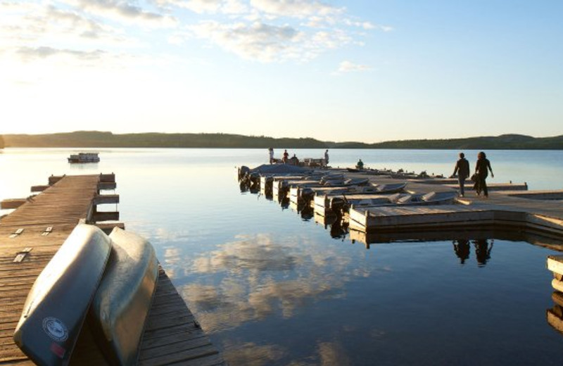Dock at Gunflint Lodge.