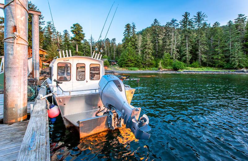 Fishing at Alaska's Big Salmon Lodge.