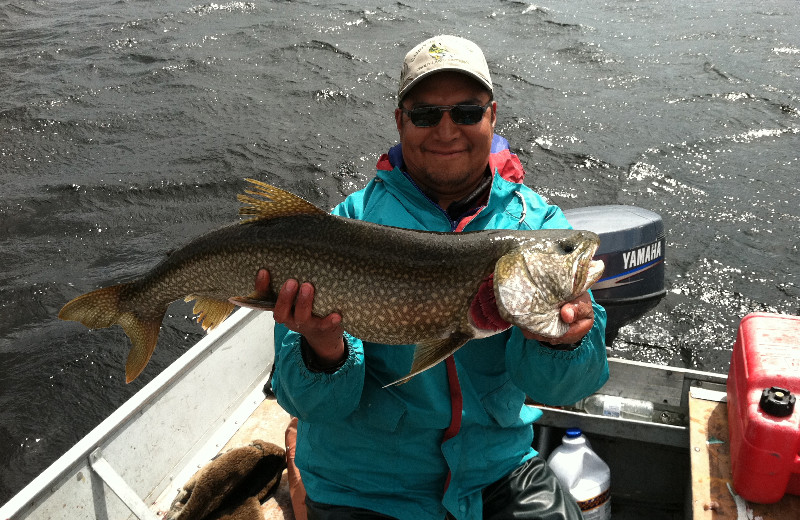 Northern pike catch and release at Sandy Beach Lodge.