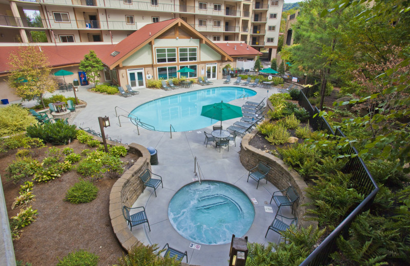 Outdoor pools at Holiday Inn Club Vacations Smoky Mountain Resort.
