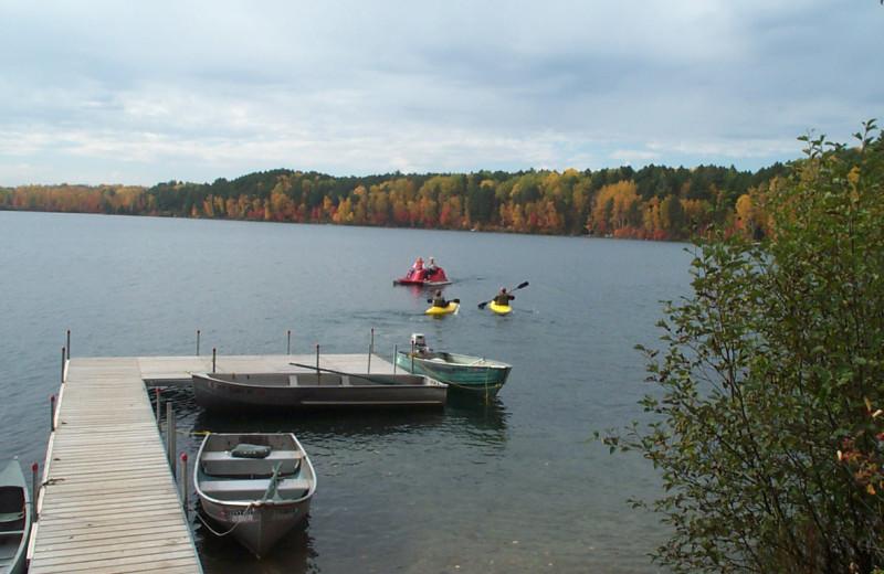 Dock at Buckhorn on Caribou Lake.