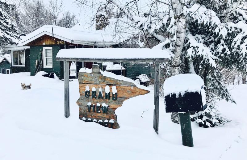 Winter at Grandview of Lake Kabetogama.