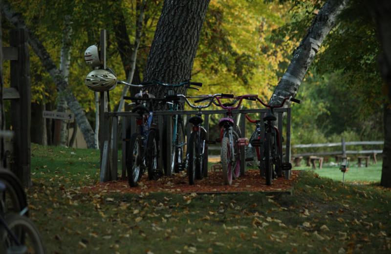 Biking at Lost Lake Lodge.