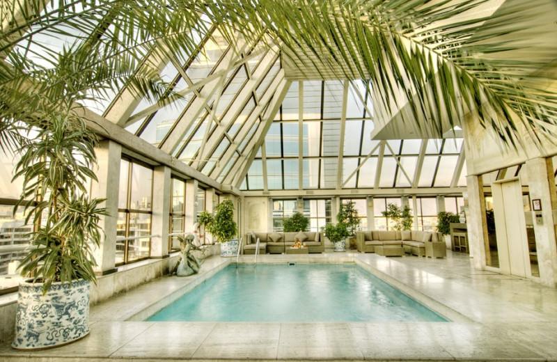 Indoor pool at Santiago Park Plaza Hotel.