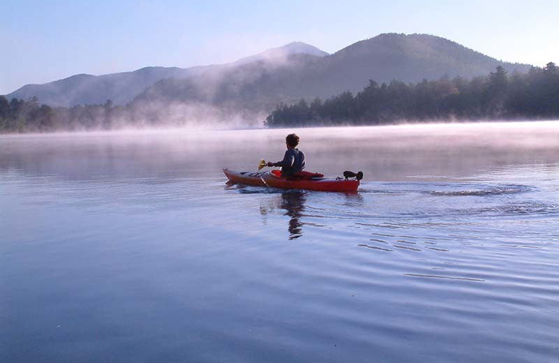 Kayaking at The Whiteface Lodge.