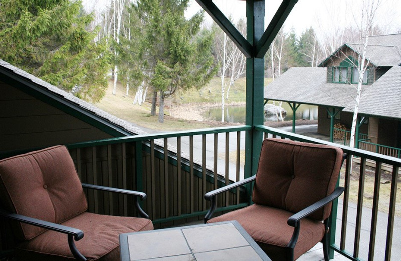 Rental balcony at Stowe Vacation Rentals & Property Management.