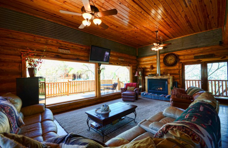 Living room at Log Country Cove.