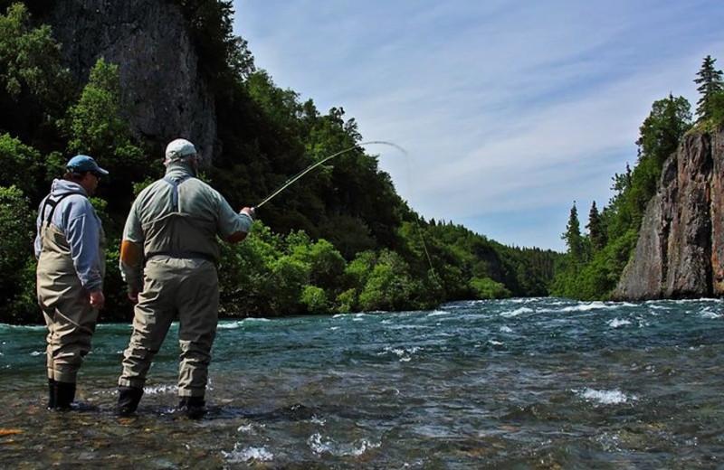 River fishing at Alaska Trophy Adventures Lodge.