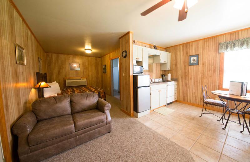 Cabin interior at Long Lake Resort
