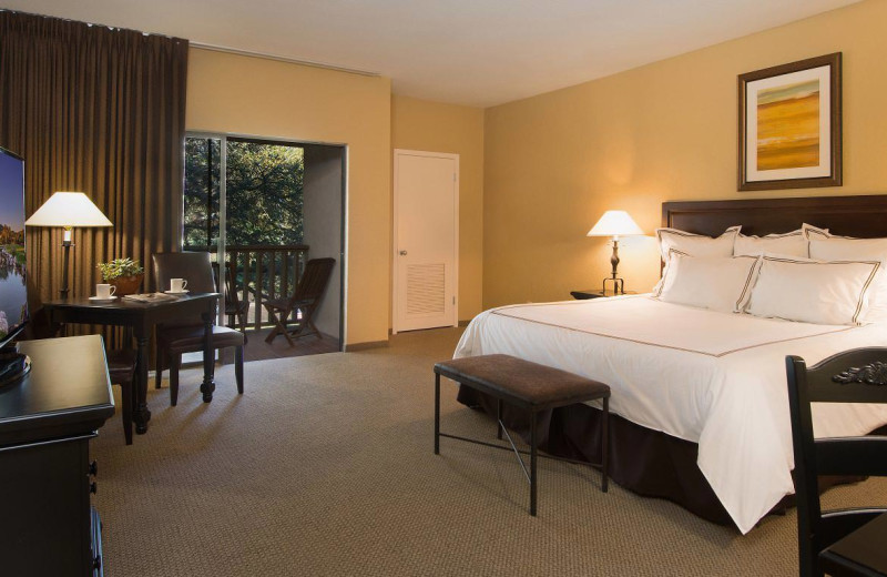 Guest room at Tapatio Springs Hill Country Resort.