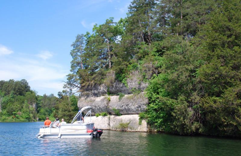Pontoon On Lake at  Eagle Ridge Resort